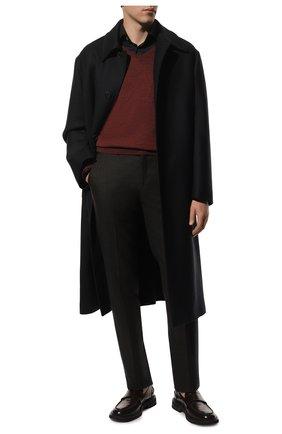 Мужской пуловер из шерсти и шелка GRAN SASSO бордового цвета, арт. 57115/13190 | Фото 2