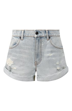 Женские джинсовые шорты DENIM X ALEXANDER WANG хаки цвета, арт. 4D994221CL | Фото 1