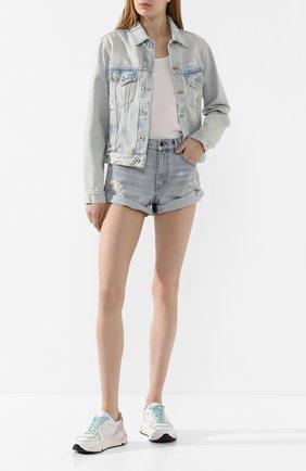 Женские джинсовые шорты DENIM X ALEXANDER WANG хаки цвета, арт. 4D994221CL | Фото 2