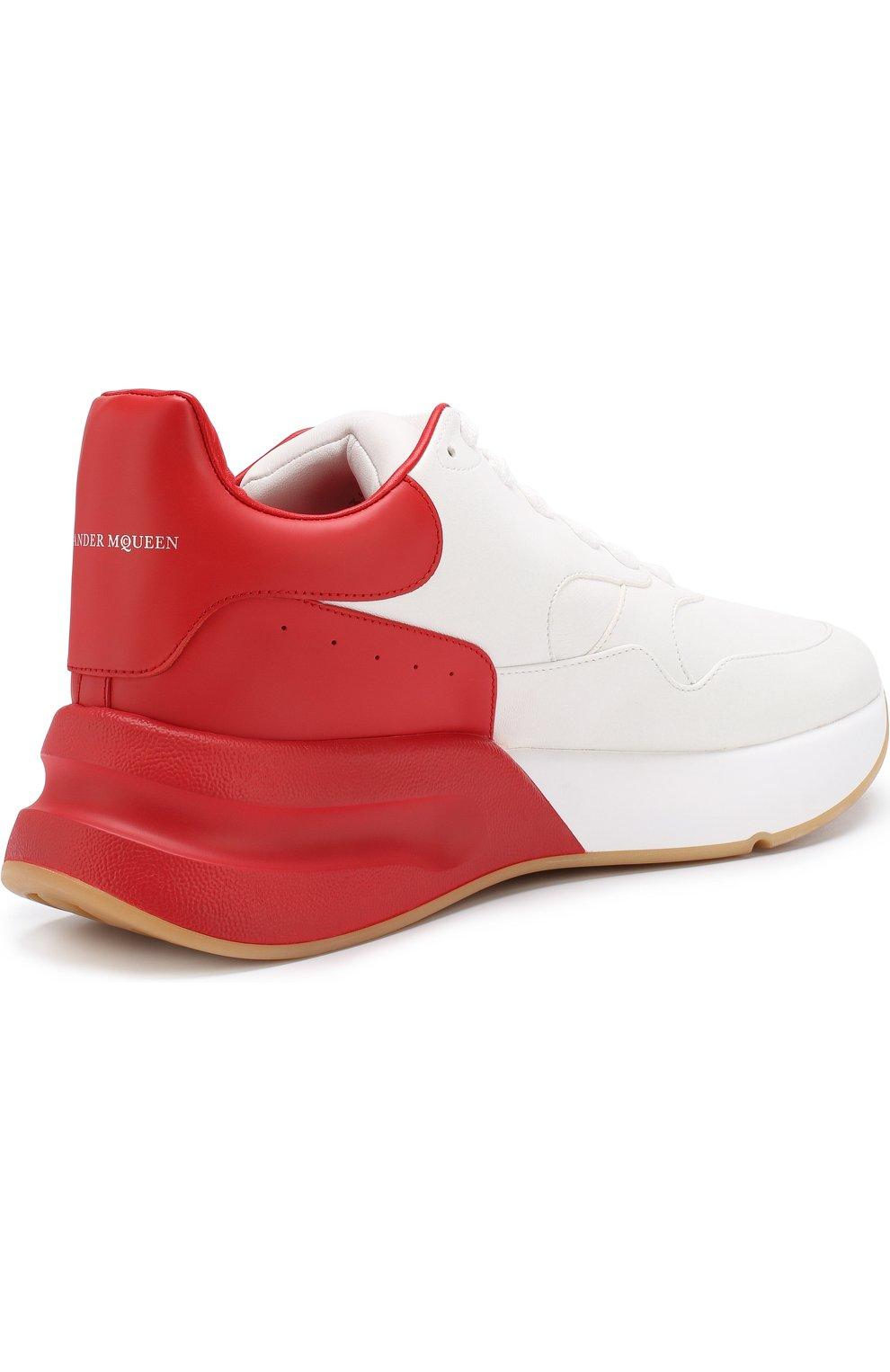 Кожаные кроссовки на шнуровке   Фото №4
