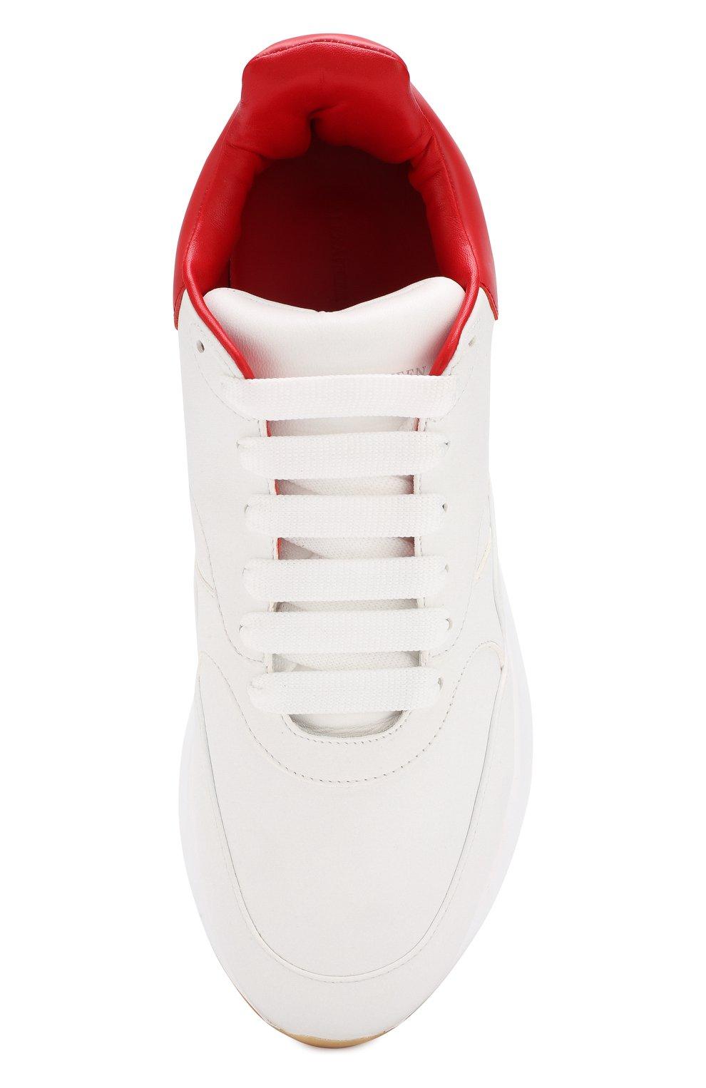 Кожаные кроссовки на шнуровке   Фото №5