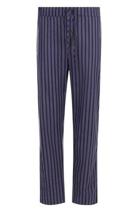 Хлопковые домашние брюки  Hanro темно-серые | Фото №1