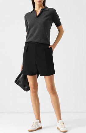 Однотонные шорты с защипами и карманами Junya Watanabe черные | Фото №1