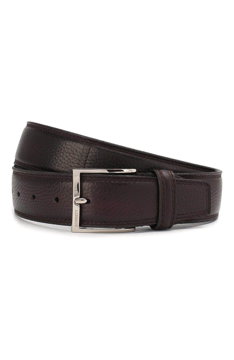 Мужской кожаный ремень с металлической пряжкой BARRETT бордового цвета, арт. 81B537.6/CERV0 ASP0RTABILE | Фото 1