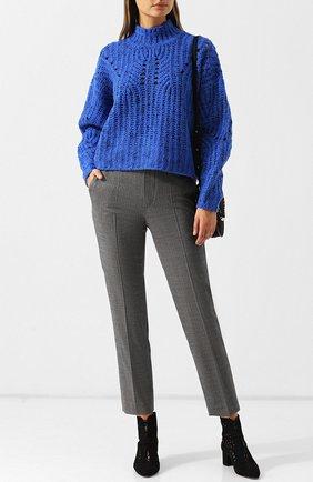 Укороченные шерстяные брюки со стрелками Isabel Marant темно-серые   Фото №1