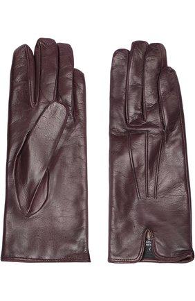 Кожаные перчатки Sermoneta Gloves бордовые   Фото №1