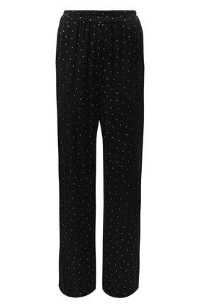 Женская брюки из вискозы прямого кроя с принтом Poustovit, цвет черный, арт. w19P-7601 в ЦУМ | Фото №1