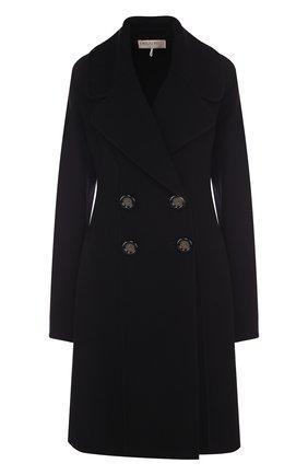 Двубортное пальто из смеси шерсти и кашемира Emilio Pucci черного цвета | Фото №1