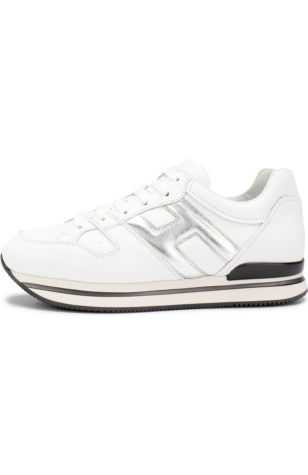Кожаные кроссовки на шнуровке   Фото №3