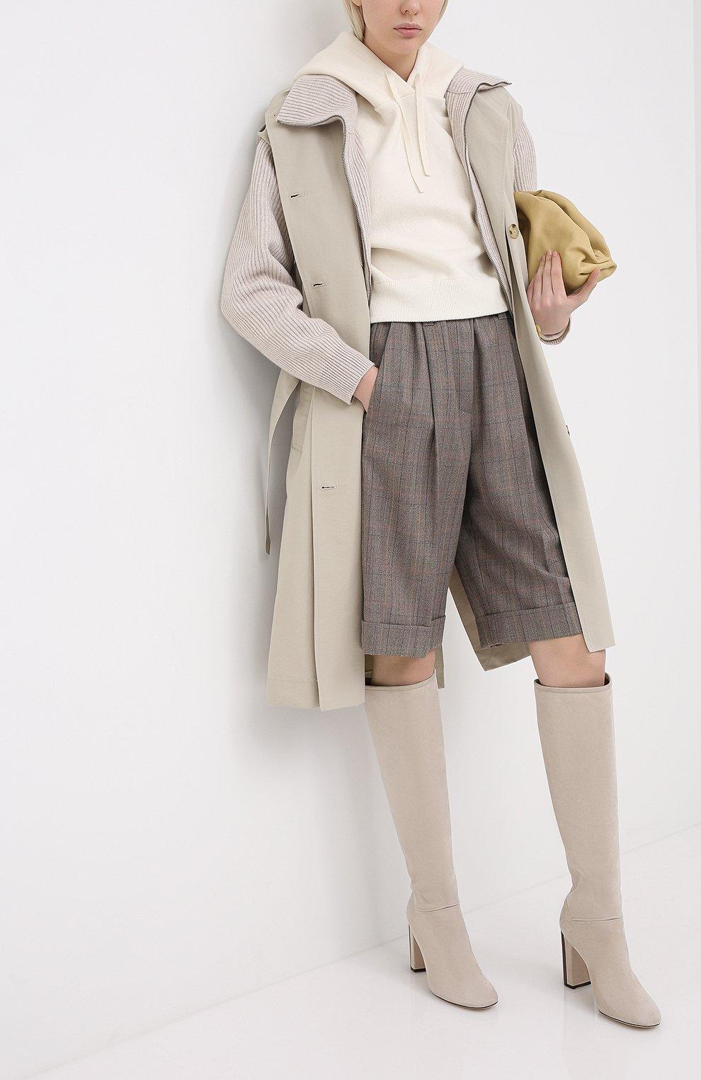Женские замшевые сапоги jeanne LORO PIANA светло-бежевого цвета, арт. FAI2296 | Фото 2