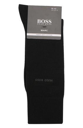 Мужские хлопковые носки BOSS черного цвета, арт. 50388436 | Фото 1 (Материал внешний: Хлопок; Кросс-КТ: бельё; Статус проверки: Проверена категория)