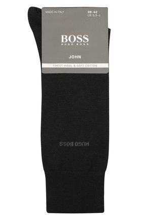 Мужские носки из смеси шерсти и хлопка BOSS черного цвета, арт. 50388420 | Фото 1 (Материал внешний: Шерсть; Статус проверки: Проверено; Кросс-КТ: бельё)