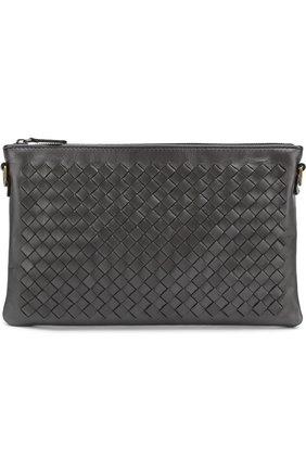 Кожаный кошелек с плетением intrecciato на цепочке | Фото №1