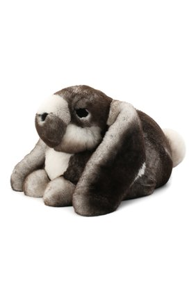 Мужского игрушка кролик с меховой отделкой LORO PIANA серого цвета, арт. FAE1467 | Фото 1
