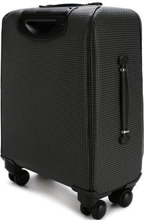 Дорожный чемодан на колесиках Serapian серая | Фото №1