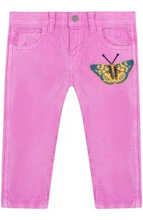 Вельветовые брюки с аппликацией   Фото №1