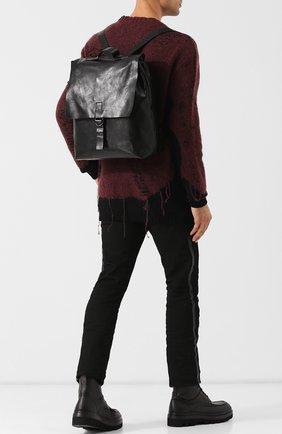 Кожаный рюкзак Marsell черный | Фото №1