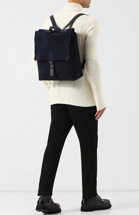 Замшевый рюкзак Marsell темно-синий | Фото №1