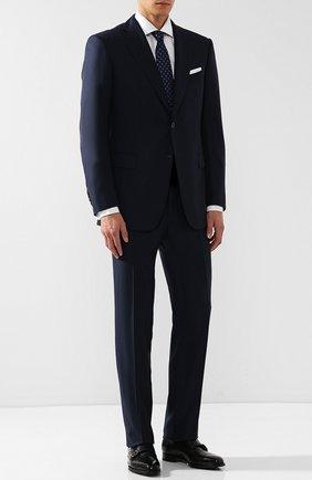 Мужские кожаные монки с двумя пряжками TOM FORD темно-зеленого цвета, арт. J1006G-BET | Фото 2