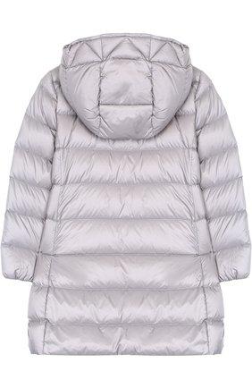 Стеганое пальто на молнии с капюшоном   Фото №2
