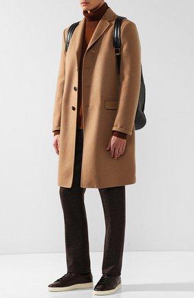 Мужские кожаные кеды  TOM FORD коричневого цвета, арт. J1045T-VCL   Фото 2