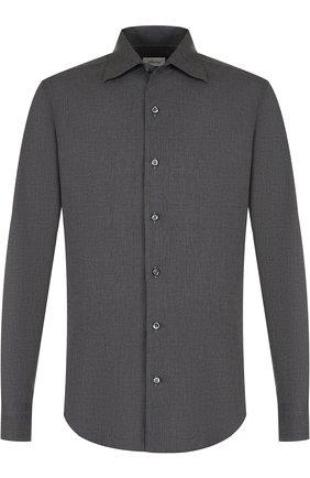 Мужская хлопковая сорочка с воротником кент BRIONI серого цвета, арт. SCAE0L/040Q6 | Фото 1