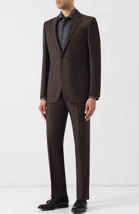 Мужская хлопковая сорочка с воротником кент BRIONI серого цвета, арт. SCAE0L/040Q6 | Фото 2