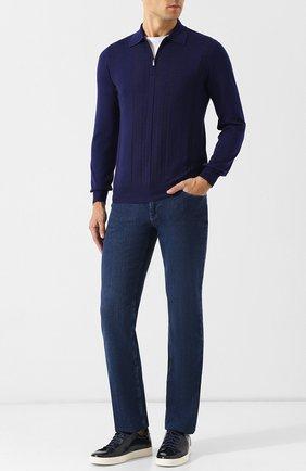 Мужские джинсы прямого кроя ZILLI синего цвета, арт. MCQ-00040-SUST1/R001/AMIS | Фото 2