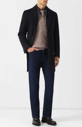 Мужские джинсы прямого кроя ZILLI темно-синего цвета, арт. MCQ-00032-HIPE1/R001 | Фото 2