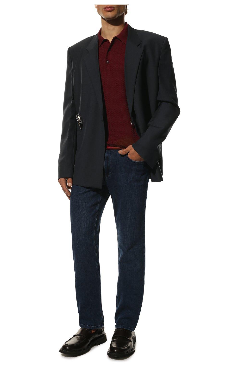Мужские джинсы прямого кроя ZILLI синего цвета, арт. MCQ-00044-SUST1/S001 | Фото 2