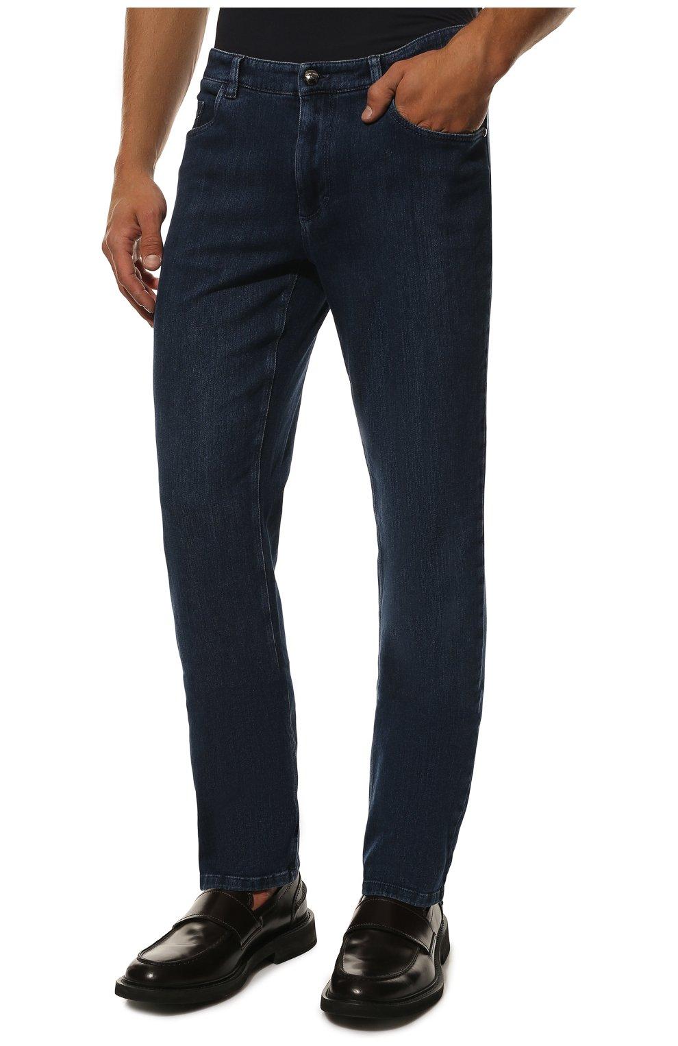 Мужские джинсы прямого кроя ZILLI синего цвета, арт. MCQ-00044-SUST1/S001 | Фото 3
