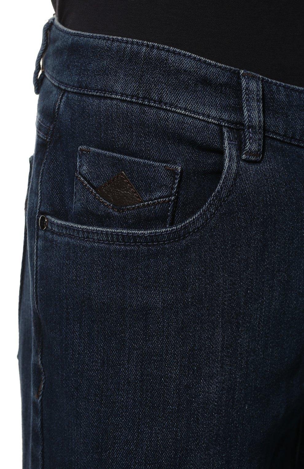 Мужские джинсы прямого кроя ZILLI синего цвета, арт. MCQ-00044-SUST1/S001 | Фото 5