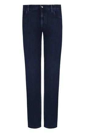 Мужские джинсы прямого кроя ZILLI синего цвета, арт. MCQ-00045-SUST1/R001 | Фото 1