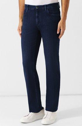 Мужские джинсы прямого кроя ZILLI синего цвета, арт. MCQ-00045-SUST1/R001 | Фото 3