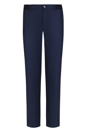 Мужской брюки прямого кроя из смеси шерсти и кашемира ZILLI синего цвета, арт. M0Q-D0081-J0LU1/R001 | Фото 1