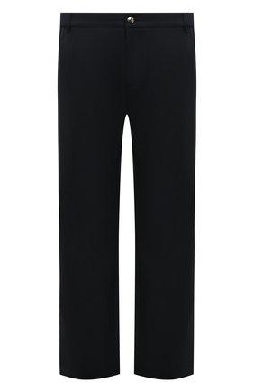 Мужской брюки прямого кроя из смеси шерсти и кашемира ZILLI темно-синего цвета, арт. M0Q-D0081-J0LU1/R001 | Фото 1