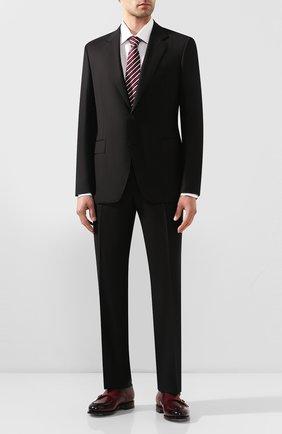 Мужской шерстяной костюм CANALI черного цвета, арт. 11280/10/AA00099 | Фото 1