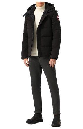 Мужская пуховая куртка macmillan CANADA GOOSE черного цвета, арт. 3804M | Фото 2 (Материал внешний: Синтетический материал, Полиэстер; Рукава: Длинные; Материал подклада: Синтетический материал; Статус проверки: Проверено, Проверена категория; Длина (верхняя одежда): Короткие; Мужское Кросс-КТ: Пуховик-верхняя одежда, Верхняя одежда, пуховик-короткий; Кросс-КТ: Пуховик, Куртка; Материал утеплителя: Пух и перо; Стили: Спорт-шик)