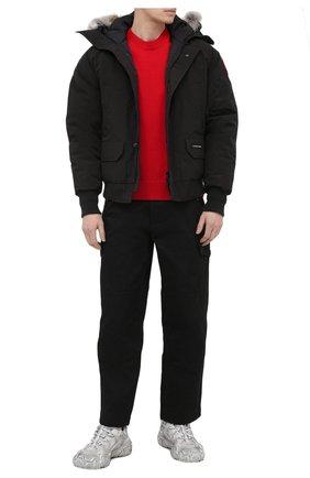 Мужской пуховый бомбер chilliwack с меховой отделкой CANADA GOOSE черного цвета, арт. 7999M | Фото 2