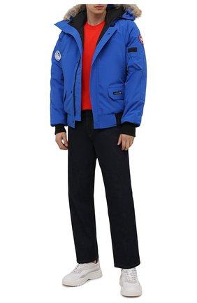Мужской пуховый бомбер chilliwack CANADA GOOSE синего цвета, арт. 7999MPB | Фото 2