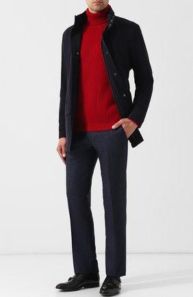 Мужской шерстяные брюки BERWICH темно-синего цвета, арт. SC/1 FIBB/RD8071 | Фото 2