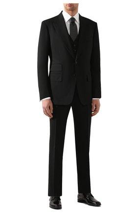 Мужской костюм-тройка из шерсти TOM FORD черного цвета, арт. 422R12/31AL43 | Фото 1
