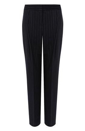 Укороченные брюки в полоску BOSS темно-синие | Фото №1