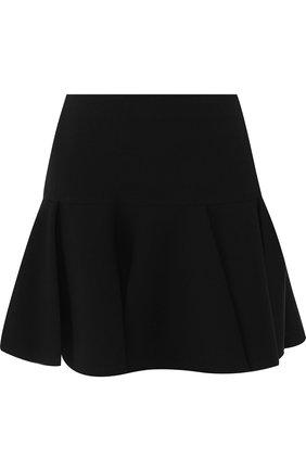 Однотонная мини-юбка в складку Chloé черная   Фото №1
