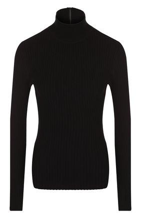 Однотонная водолазка из вискозы Michael Kors Collection черная | Фото №1
