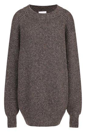 Шерстяной пуловер свободного кроя | Фото №1
