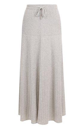 Кашемировая юбка-миди с эластичным поясом | Фото №1