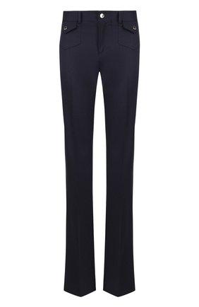 Расклешенные шерстяные брюки со стрелками REDVALENTINO темно-синие | Фото №1