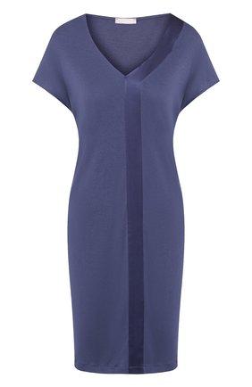 Ночная сорочка с V-образным вырезом Hanro синяя | Фото №1