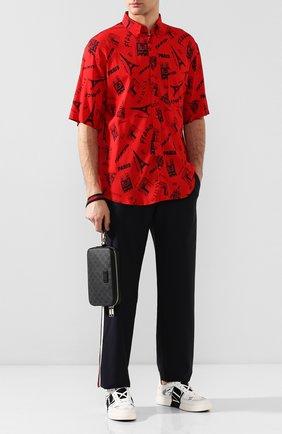 Мужская борсетка gg supreme GUCCI черного цвета, арт. 495562/K5RLN | Фото 2